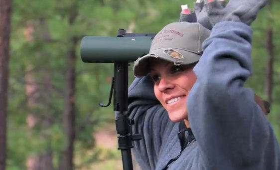 cute girl hunts big arizona elk 2