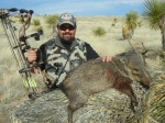 Author Jason Amaro and his New Mexico Javelina